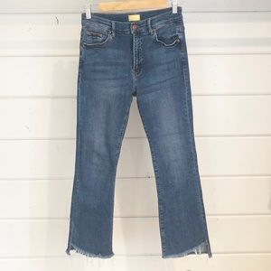 MOTHER Insider Crop Step Fray Jeans Size 27